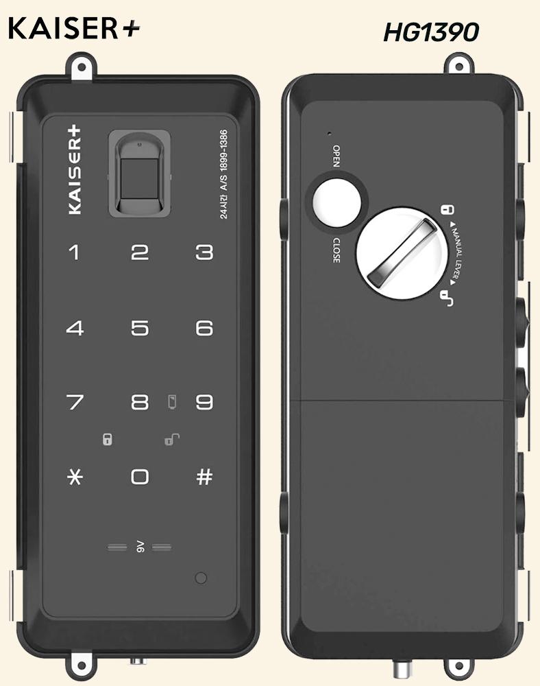 Kaiser HG1390 Digital Glass Door Lock