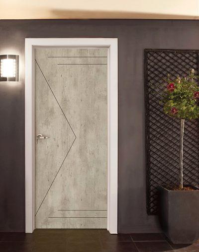 Laminate Bedroom Door with Groove Line