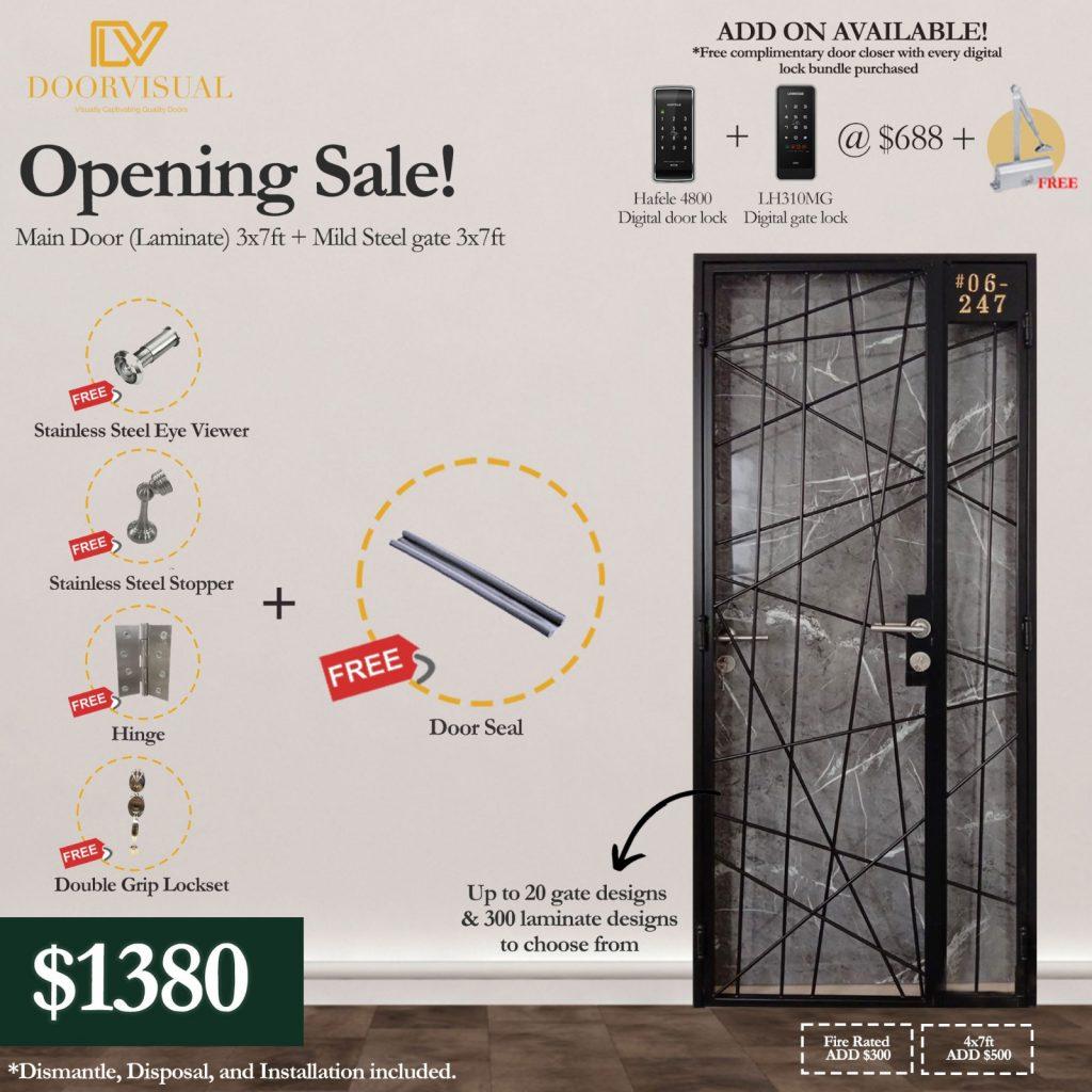 DoorVisual Opening Sale Promotion