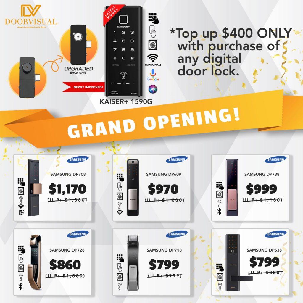 Grand Opening Day Digital Lock Bundle Promotion