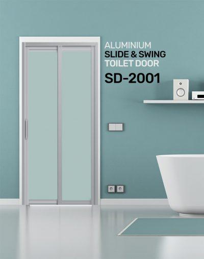 SD 2001 Aluminium Slide & Swing Toilet Door