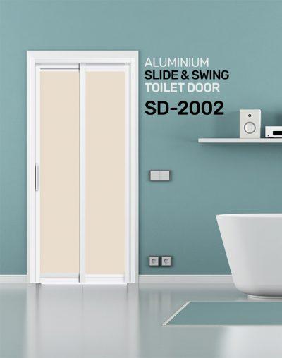 SD 2002 HDB Aluminum Slide & Swing Toilet Door