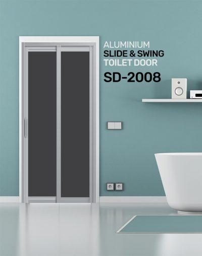 SD 2008 Slide & Swing Toilet Door