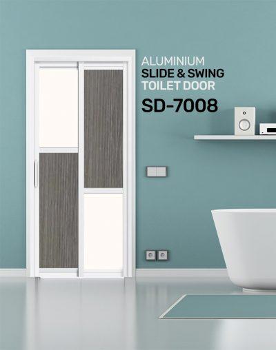 SD 7008 HDB Aluminum Slide & Swing Toilet Door