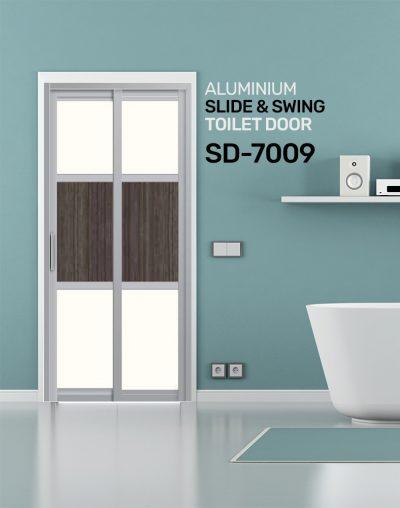 SD 7009 Aluminium Slide & Swing Toilet Door
