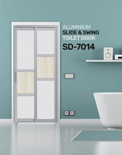 SD 7014 HDB Aluminum Slide & Swing Toilet Door