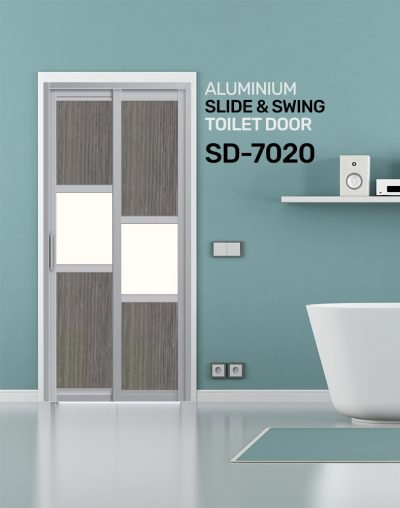 SD 7020 HDB Aluminum Slide & Swing Toilet Door