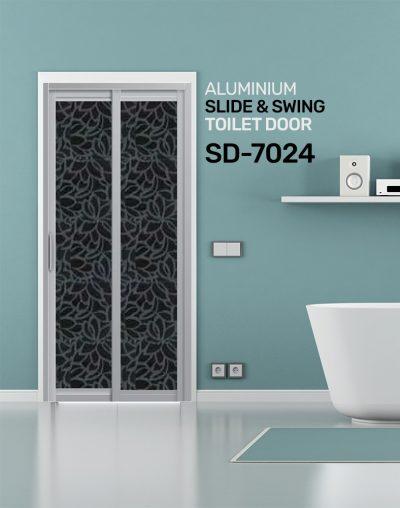 SD 7024 Aluminium Slide & Swing Toilet Door