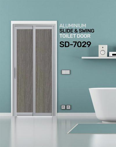 SD 7029 HDB Aluminum Slide & Swing Toilet Door