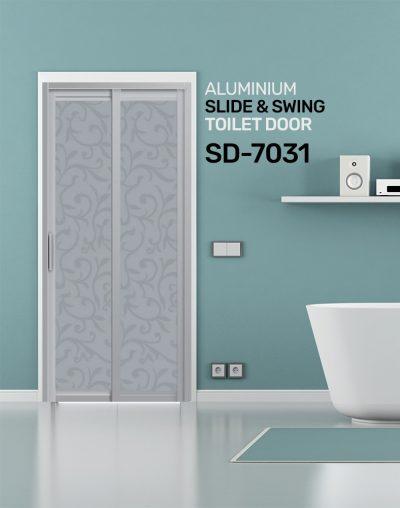 SD 7031 Aluminium Slide & Swing Toilet Door