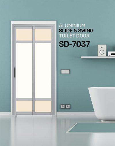 SD 7037 HDB Aluminum Slide & Swing Toilet Door