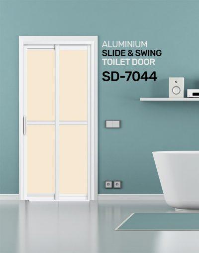 SD 7044 Aluminium Slide & Swing Toilet Door