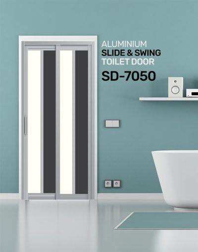 SD 7050 Slide & Swing Toilet Door SG