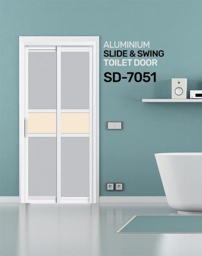 SD 7051 HDB Aluminum Slide & Swing Toilet Door
