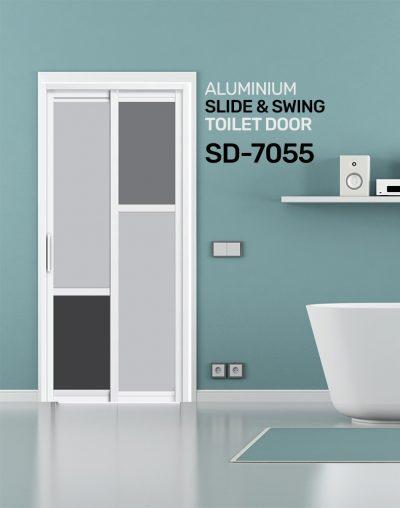 SD 7055 HDB Aluminum Slide & Swing Toilet Door