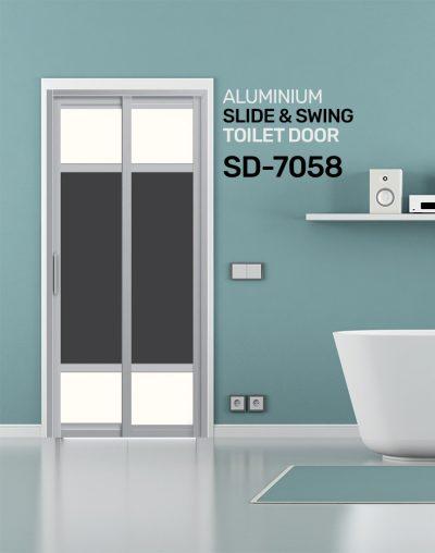 SD 7058 Slide & Swing Toilet Door