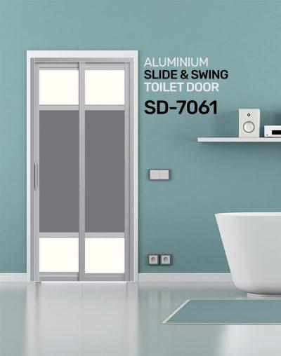 SD 7061 HDB Aluminum Slide & Swing Toilet Door