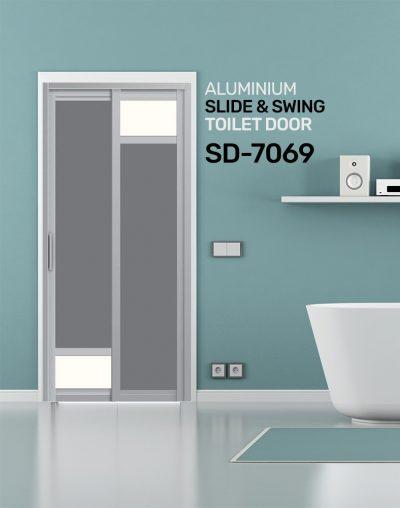 SD 7069 Slide & Swing Toilet Door