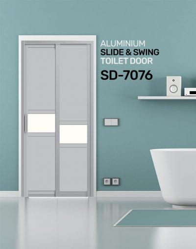 SD 7076 Aluminium Slide & Swing Toilet Door