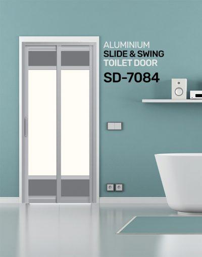 SD 7084 HDB Aluminum Slide & Swing Toilet Door