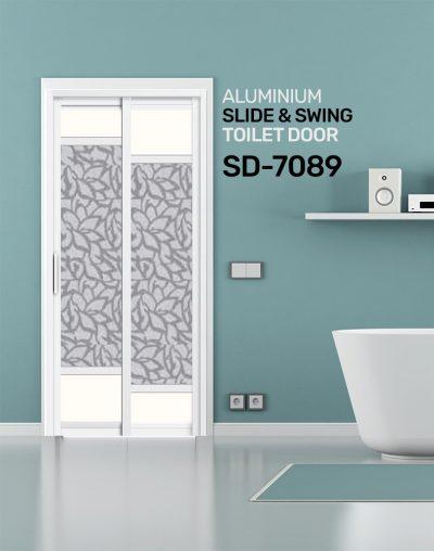 SD 7089 Aluminium Slide & Swing Toilet Door