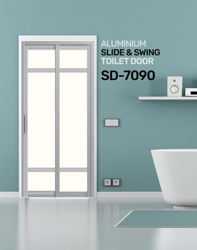 SD 7090 HDB Aluminum Slide & Swing Toilet Door