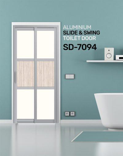 SD 7094 Aluminium Slide & Swing Toilet Door
