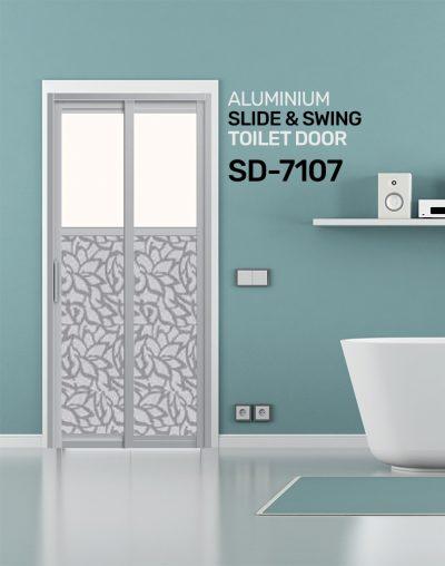 SD 7107 Aluminium Slide & Swing Toilet Door