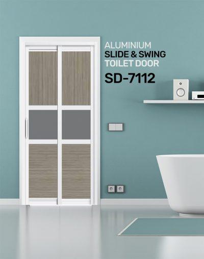 SD 7112 Aluminium Slide & Swing Toilet Door