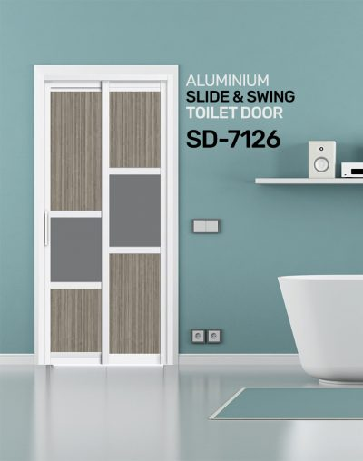 SD 7126 Aluminium Slide & Swing Toilet Door