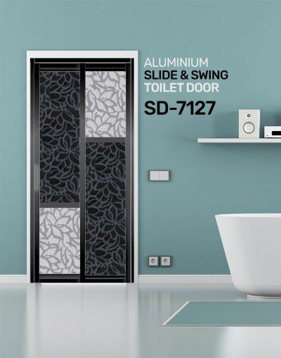 SD 7127 HDB Aluminum Slide & Swing Toilet Door