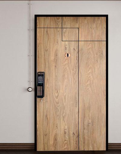 Laminate Single Leaf Main Door with Groove Line