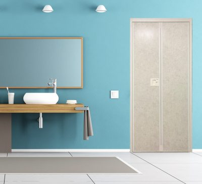Bright Marple VFold Toilet Door