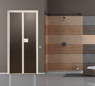 Dark Abstract VFold Toilet Door