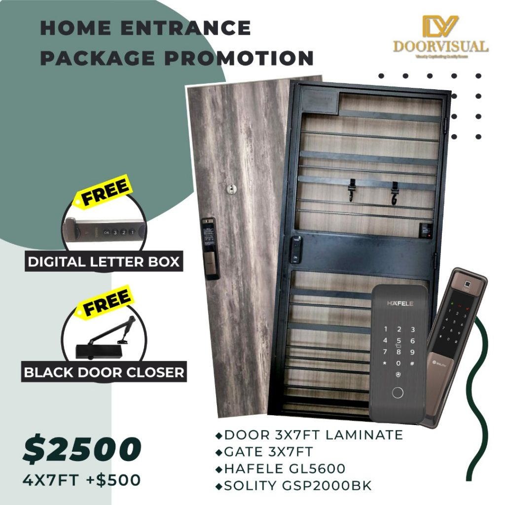 Home Entrance Door Gate Digitallock Package Promotion 4