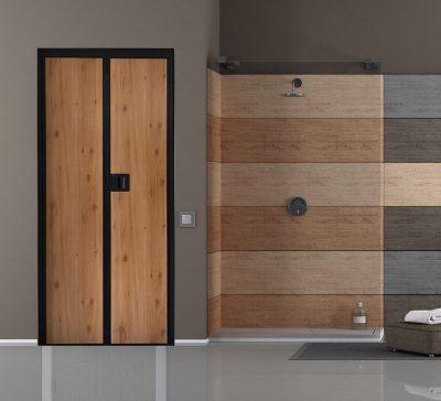 Honey-Wood-VFold-Toilet-Door