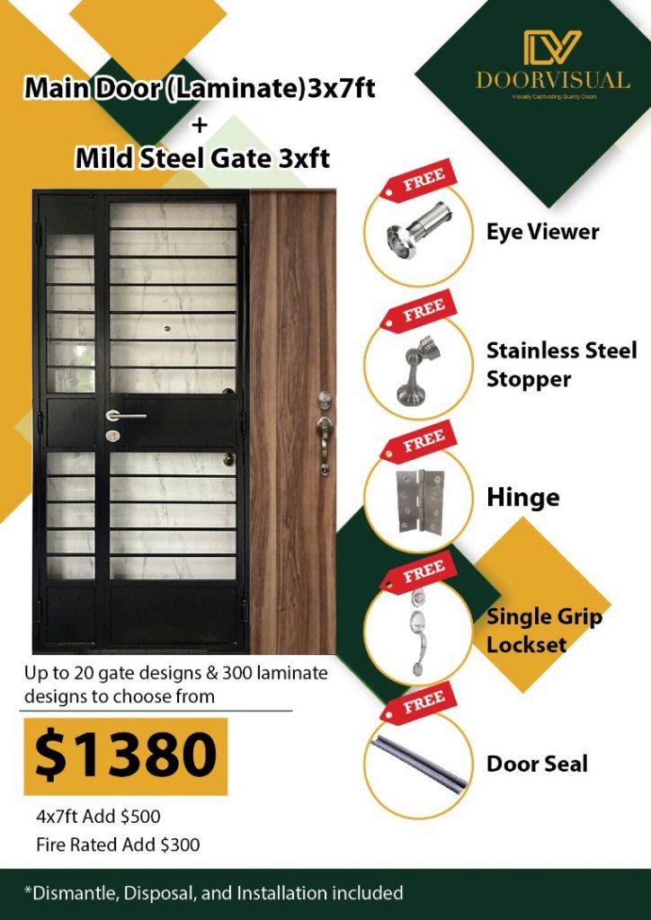 Laminate Main Door Metal Gate Offer 2021